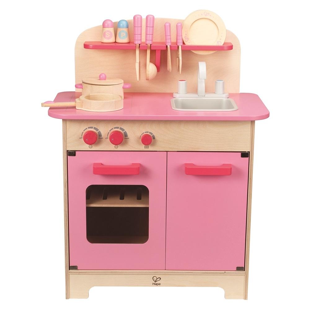 德國Hape愛傑卡 廚房系列-大型廚具台(粉色)