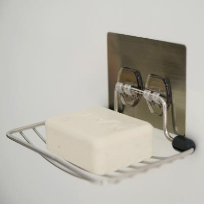 Home Feeling 髮絲紋第二代無痕貼系列-不鏽鋼肥皂架