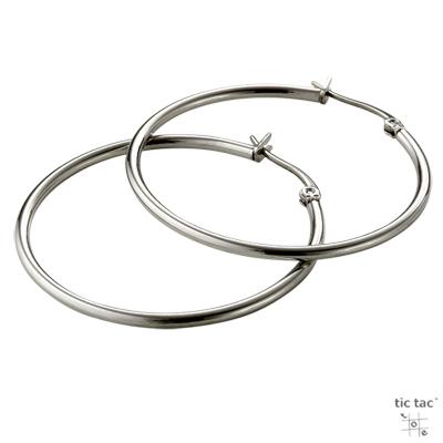 tic tac toe 垂吊式白鋼耳環系列-中圓圈