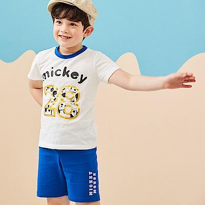 Disney 米奇系列俏皮數字上衣短褲套裝 (共2色)
