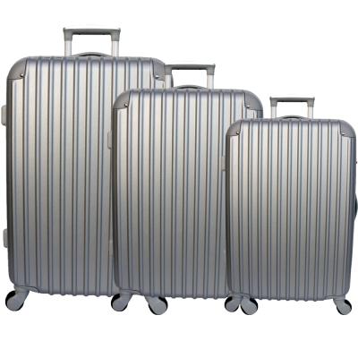 YC-Eason-輕巧款三件組ABS硬殼行李箱-銀