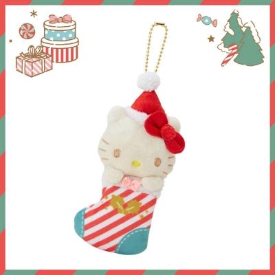 Sanrio SANRIO明星聖誕小鎮系列聖誕襪造型玩偶吊鍊(KITTY)
