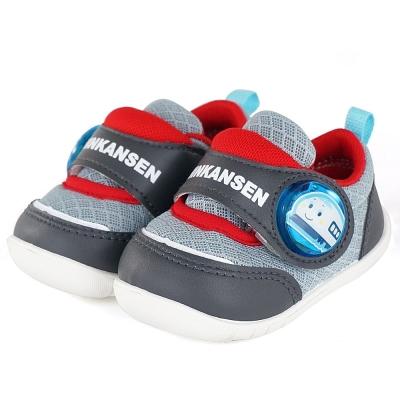 ShinKanSen新幹線 輕量抗菌防臭電燈學步童鞋-灰
