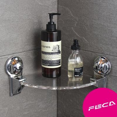 FECA非卡 無痕強力吸盤 王子牆角架組(銀)