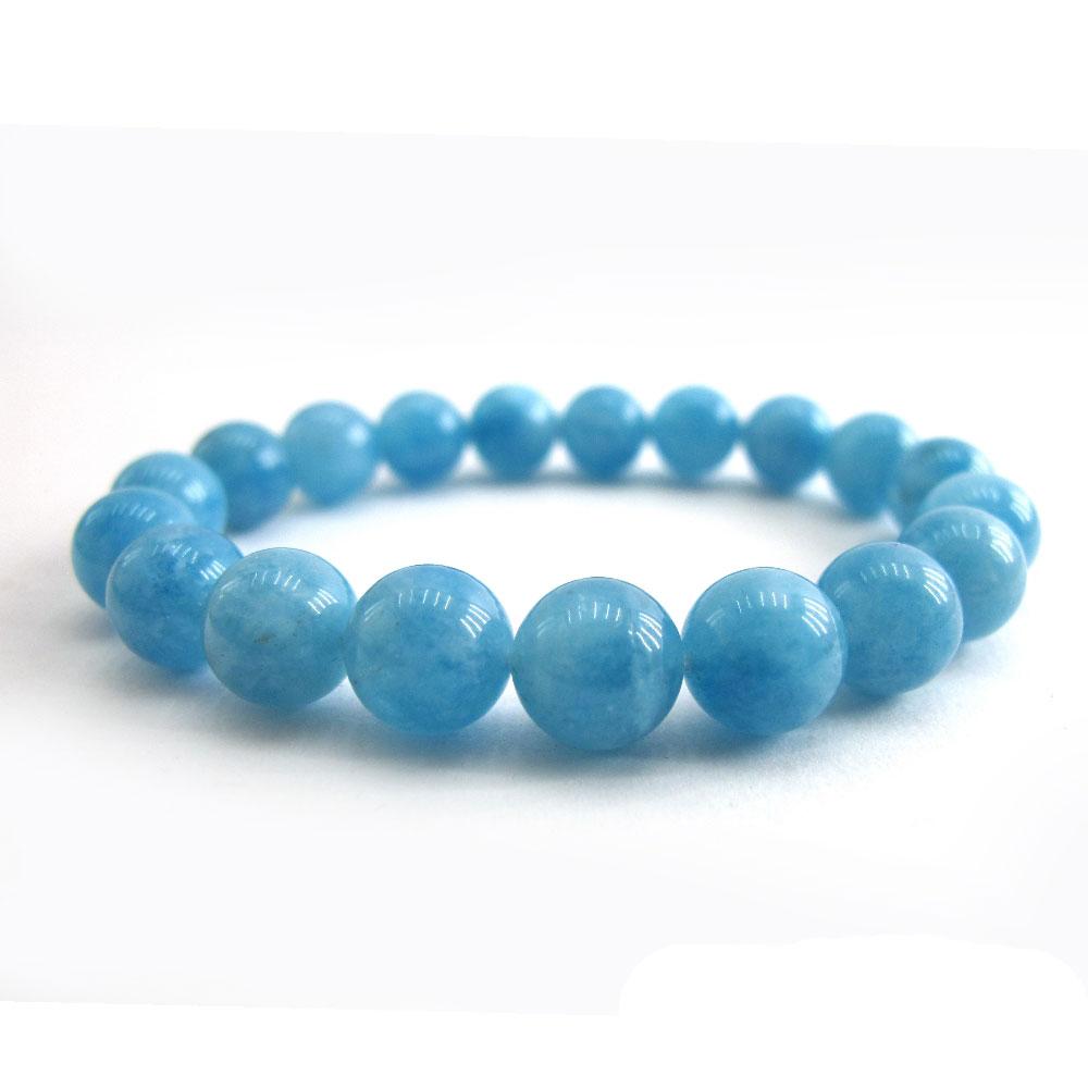 Hera頂級冰沁海水藍寶手珠(10mm)
