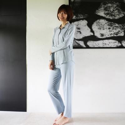寬庭Kuans Living-希維亞-兩件式家居服(水藍色)