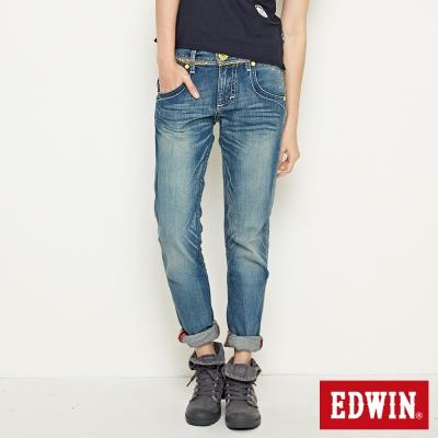 EDWIN 503B.T小花AB牛仔褲-女款(拔淺藍)