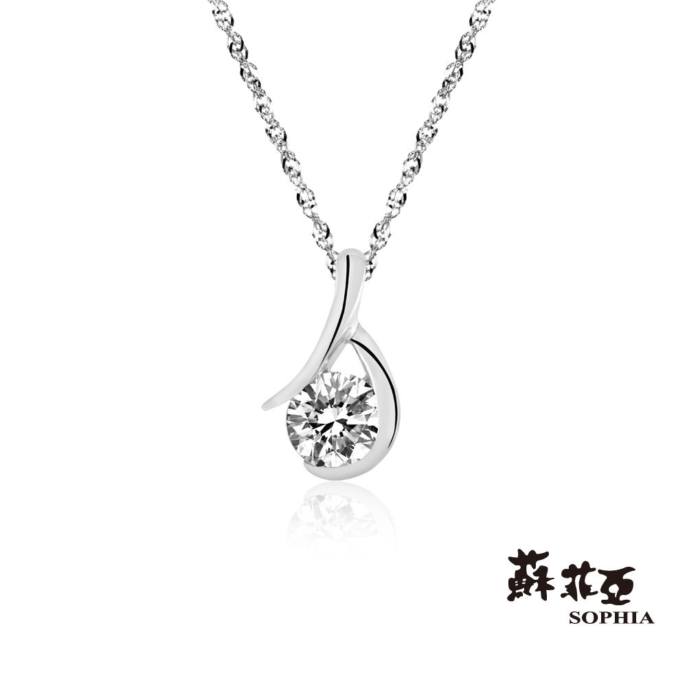 蘇菲亞SOPHIA 鑽石項鍊-雋永0.15克拉FVS2鑽鍊