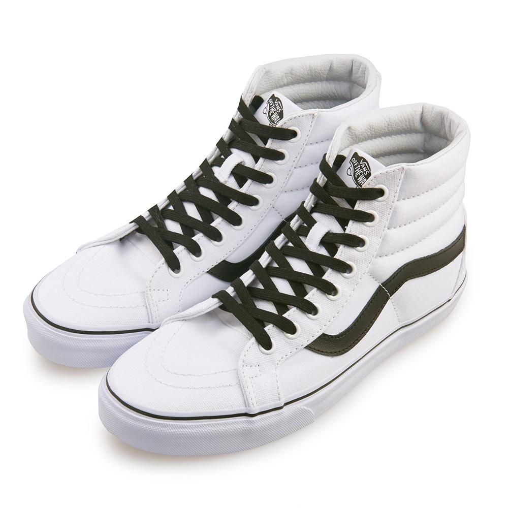 (男)VANS SK8-Hi 潮流素色高筒休閒鞋*白色