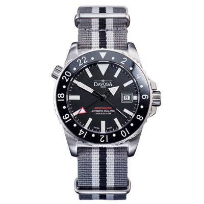 DAVOSA Stratosphere Flig -GMT潛水機械腕錶-黑/42mm