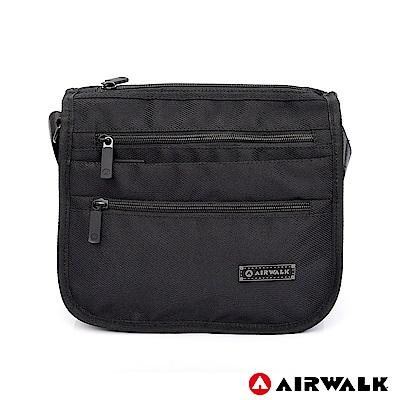 【美國 AIRWALK】品味層次休閒側背包-黑色