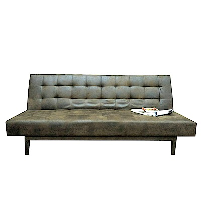品家居 克雷爾仿舊皮革展開式沙發床-186x87x82cm-免組