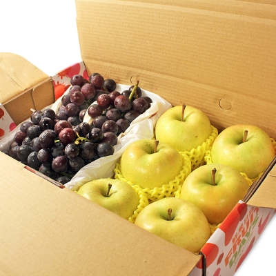 鮮果日誌 - 極品健康禮盒(朱鷺蘋果6入+巨峰葡萄2.5台斤)