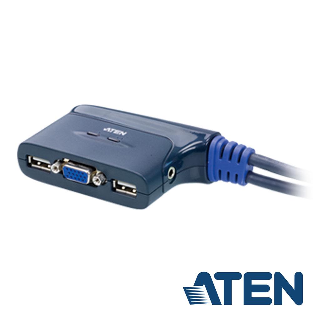 ATEN  2埠 USB KVM 切換器(CS62U)
