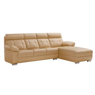 品家居 托比耐磨皮革L型沙發(左右可選)-283x195x97cm-免組
