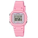 CASIO 粉色炫風方形電子錶(LA-20WH-4A1)-粉紅色/30.4mm
