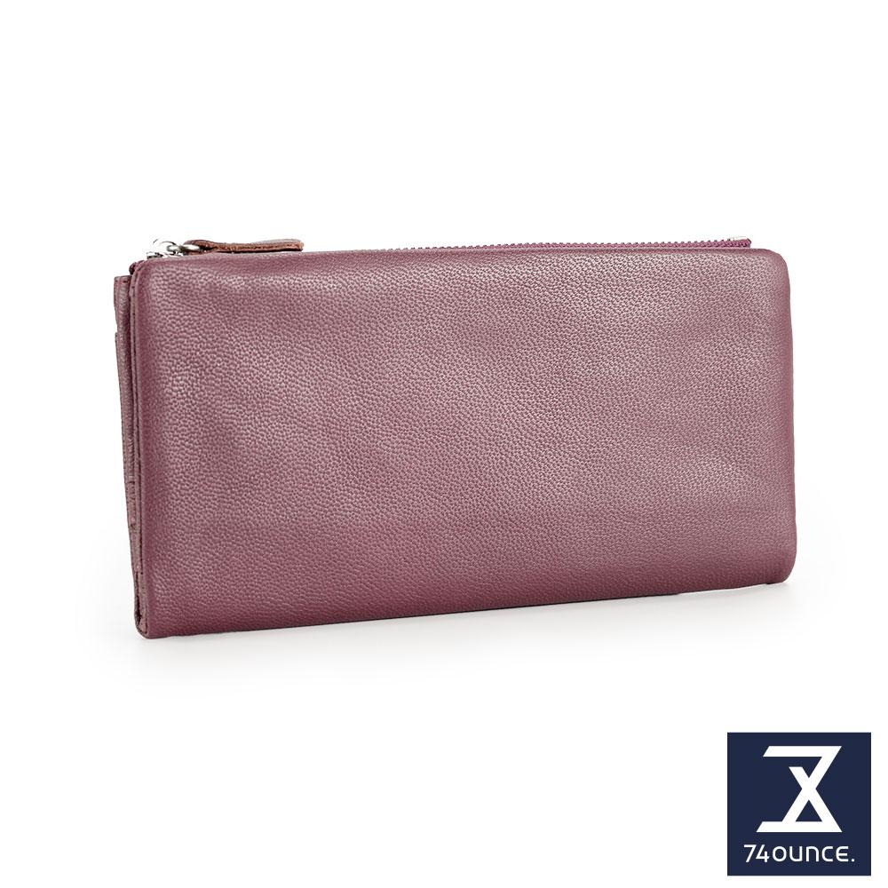 74盎司 簡約設計小羊皮長夾[LN-705]紫
