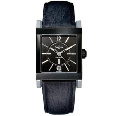 DAVOSA X-Agon 藝術家機械腕錶-IP黑/33x42mm
