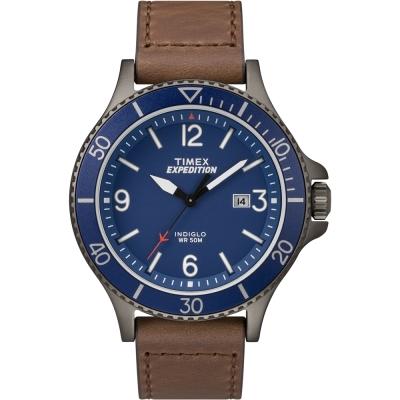 TIMEX 天美時 Expedition系列 精緻手錶-藍/43mm