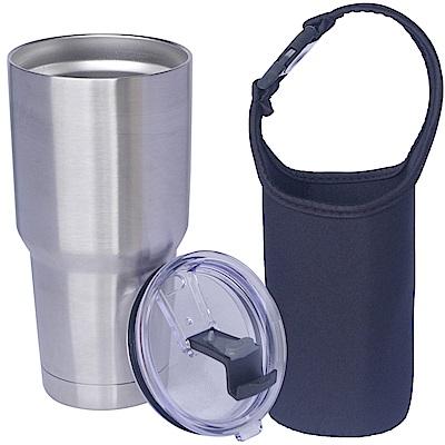 冰凍杯 304不鏽鋼雙層保冷/保溫杯900ml一個+杯套一個