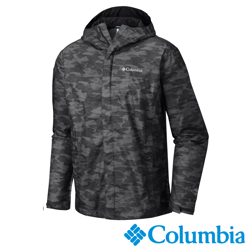 Columbia哥倫比亞 男款 OT 防水外套黑色迷彩 (URE10010BQ)