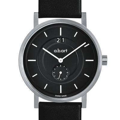 a.b.art O系列 多層次圓軌設計腕錶-黑/40.5mm