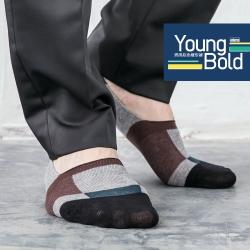 蒂巴蕾 Young Bold 男用彩色隱形襪-方塊