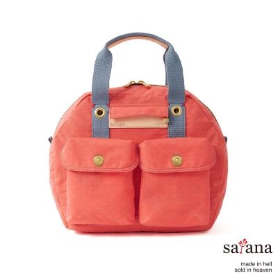 satana - 旅行後背包/保齡球包 - 珊瑚紅