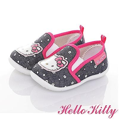 HelloKitty牛仔系列 輕量抗菌減壓懶人學步童鞋-可室內-藍