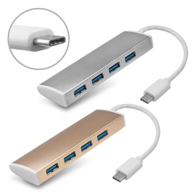 Type-C 轉 USB3.0 鋁合金 4埠HUB集線器(T309)