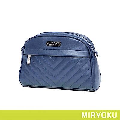 MIRYOKU /  精緻V型車紋貝殼包(共3色)
