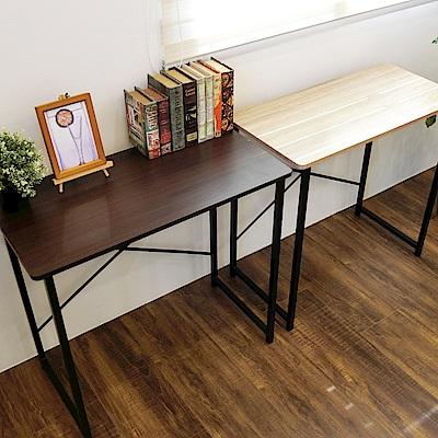 Amos-簡約輕工業風個人工作桌-80x40x75