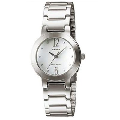 CASIO 珍珠母貝指針淑女錶(LTP-1191A-7A)-珠貝白/25.5mm