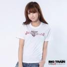 BIG TRAIN-女款 玫瑰豹印花TEE-白