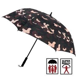 2mm 都市叢林 迷彩高爾夫揹帶防風直傘 (咖啡)