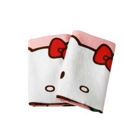Sanrio三麗鷗授權-藍衣凱蒂貓抱紅蘋果毛巾(3入)