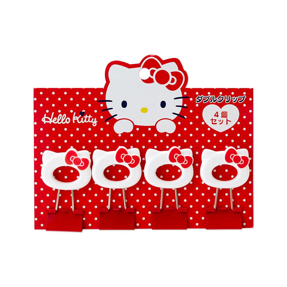 Sanrio HELLO KITTY頭型燕尾夾/長尾夾組(一組4個入)