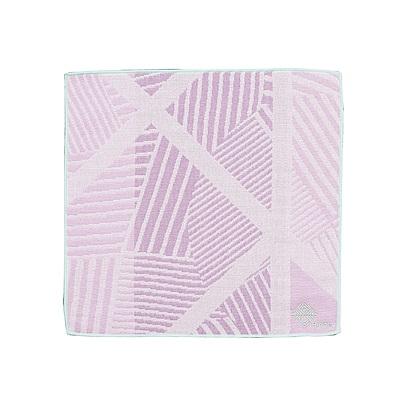 日本丸真今治雙色方巾-斜紋紫