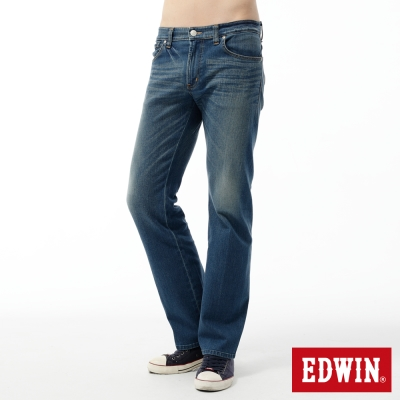 EDWIN-中直筒-503-ZERO無接縫牛仔褲-男-石洗藍