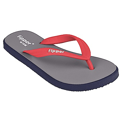 Fipper WIDE 天然橡膠拖鞋 GREY-RED
