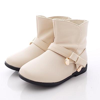 PV日系私藏 皮質短靴款 6511 杏色 (小童段)T1