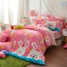 義大利Fancy Belle 雙人防蹣抗菌吸濕排汗雪芙絨被套床包組-甜點樂園