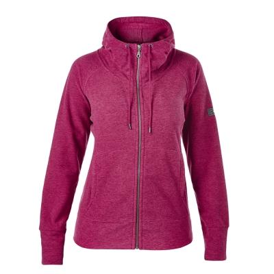 【Berghaus貝豪斯】女款刷毛保暖立領外套H22FR6-桃紅