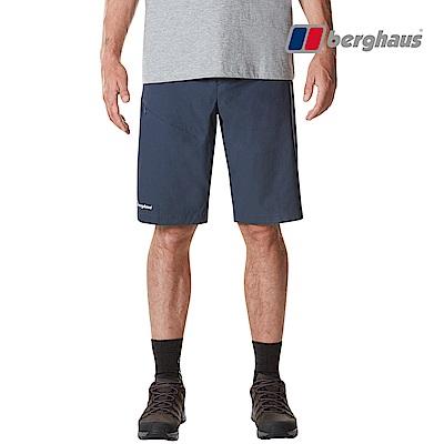 【Berghaus貝豪斯】男款輕量彈性短褲S09M07-藍