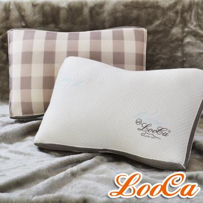 LooCa 蠶絲乳膠負離子健康獨立筒枕 1入