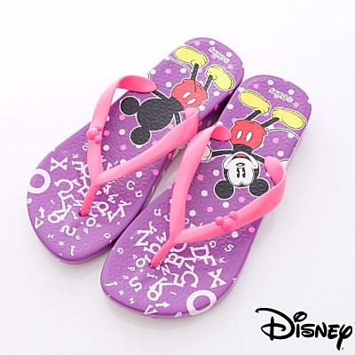Disney迪士尼-淘氣米奇繽紛夾腳鞋-44024706紫(女段)