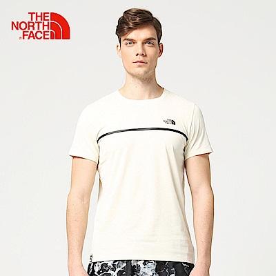 The North Face北面男款白色吸濕排汗透氣短袖T恤