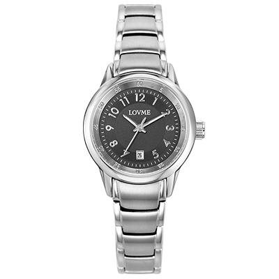 LOVME 摩登簡約時尚腕錶-黑/29mm