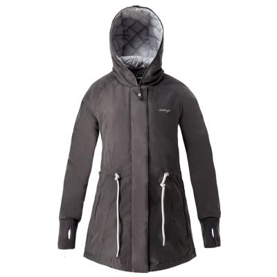 【hilltop山頂鳥】女款超撥水保暖蓄熱羽絨短大衣F22FU5灰