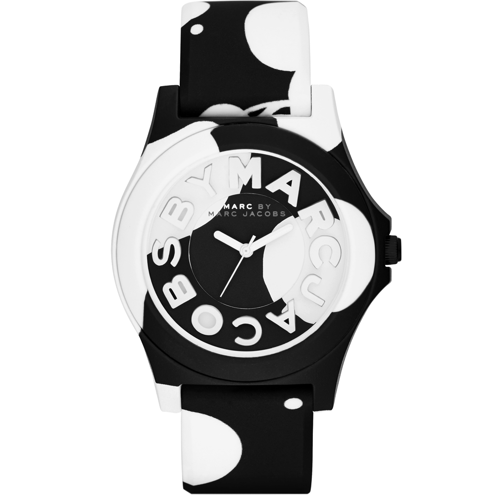 Marc by Marc Jacobs Sloane 乳牛趣味時尚腕錶-黑/40mm